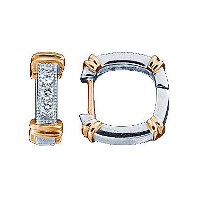 Золотые серьги Ювелирное изделие 71286RS