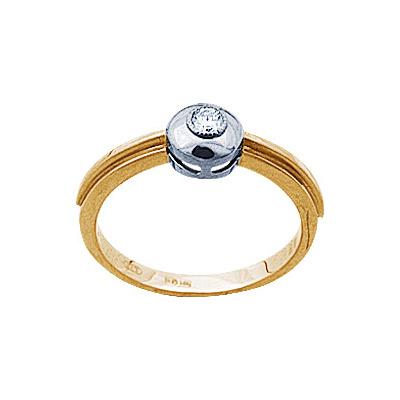 Золотое кольцо Ювелирное изделие 71321RS кольцо алмаз холдинг женское золотое кольцо с бриллиантами и рубином alm13237661 19