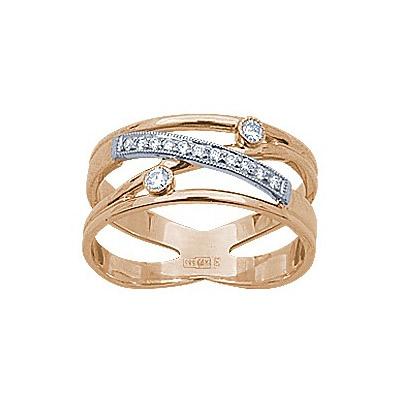 Золотое кольцо Ювелирное изделие 71741RS кольцо алмаз холдинг женское золотое кольцо с бриллиантами и рубином alm13237661 19