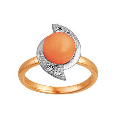 Золотое кольцо Ювелирное изделие 90084RS кольцо алмаз холдинг женское золотое кольцо с бриллиантами и рубином alm13237661 19