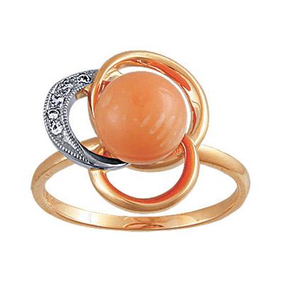 Золотое кольцо Ювелирное изделие 90092RS кольцо jv женское золотое кольцо с бриллиантами раухтопазами и цитринами r1280p82d m ct1 ct sq yg 17 5