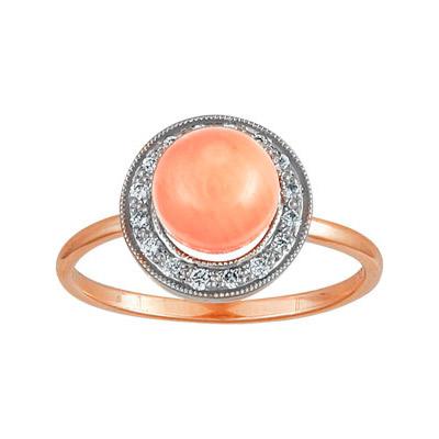 Золотое кольцо Ювелирное изделие 90095RS кольцо алмаз холдинг женское золотое кольцо с бриллиантами и рубином alm13237661 19