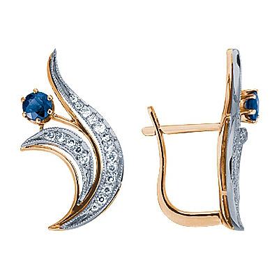 Золотые серьги Ювелирное изделие 90114RS серьги лукас золотые серьги с бриллиантами и сапфирами e01 d 33836 sabs4
