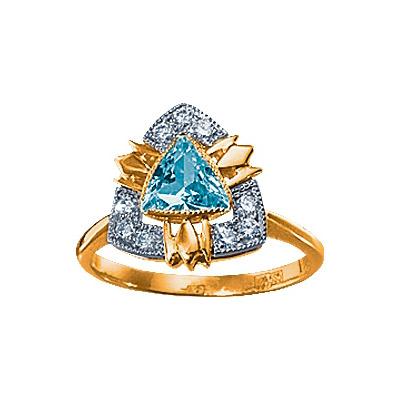 Золотое кольцо Ювелирное изделие 90211RS кольцо алмаз холдинг женское золотое кольцо с бриллиантами и рубином alm13237661 19