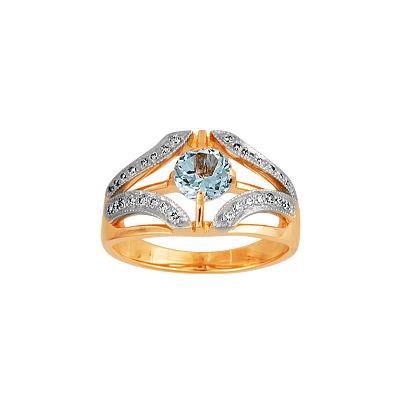 Золотое кольцо Ювелирное изделие 90232RS кольцо алмаз холдинг женское золотое кольцо с бриллиантами и рубином alm13237661 19