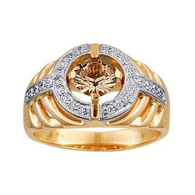 Золотое кольцо Ювелирное изделие 90241RS feraud женское золотое кольцо с кварцем и бриллиантами sa002gdb2 17 5