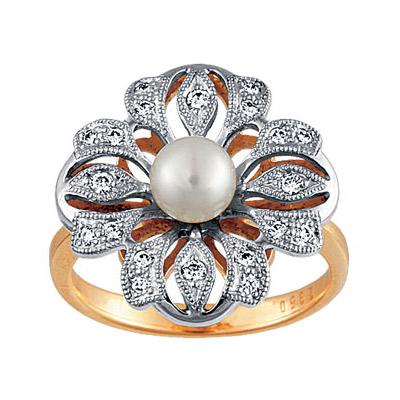 Золотое кольцо Ювелирное изделие 90250RS кольцо алмаз холдинг женское золотое кольцо с бриллиантами и рубином alm13237661 19