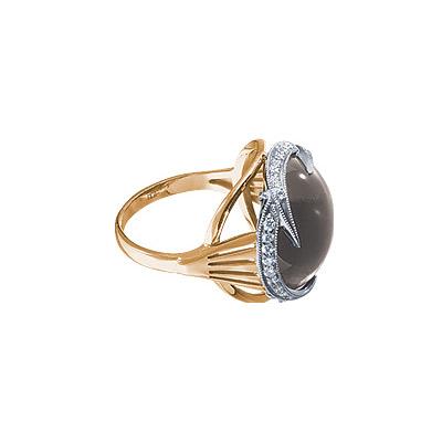Золотое кольцо Ювелирное изделие 90300RS кольцо алмаз холдинг женское золотое кольцо с бриллиантами и рубином alm13237661 19