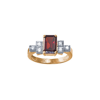 Золотое кольцо Ювелирное изделие 90302RS кольцо алмаз холдинг женское золотое кольцо с бриллиантами и рубином alm13237661 19