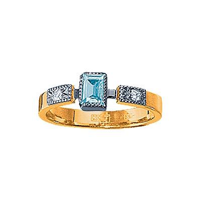 Золотое кольцо Ювелирное изделие 90334RS кольцо алмаз холдинг женское золотое кольцо с бриллиантами и рубином alm13237661 19