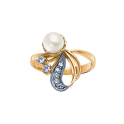 Золотое кольцо Ювелирное изделие 90348RS кольцо алмаз холдинг женское золотое кольцо с бриллиантами и рубином alm13237661 19