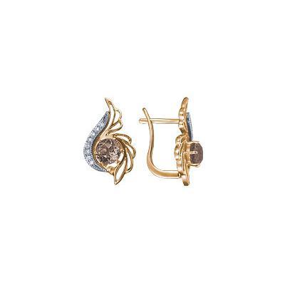 Золотые серьги Ювелирное изделие 90469RS серьги jv золотые серьги с бриллиантами e20070c db wg