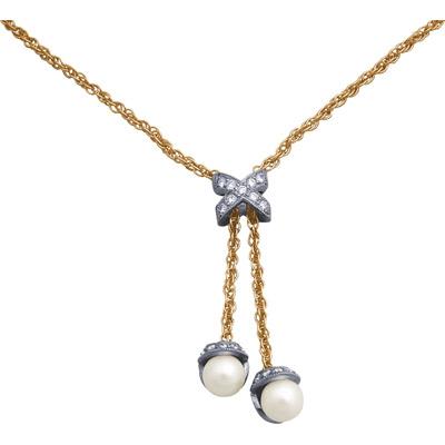 Золотое колье Ювелирное изделие 90495RS fashion золотое колье с бриллиантами 6nl0016 40