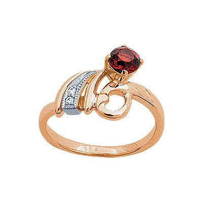 Золотое кольцо Ювелирное изделие 90701RS беньковский д любовь красное и белое