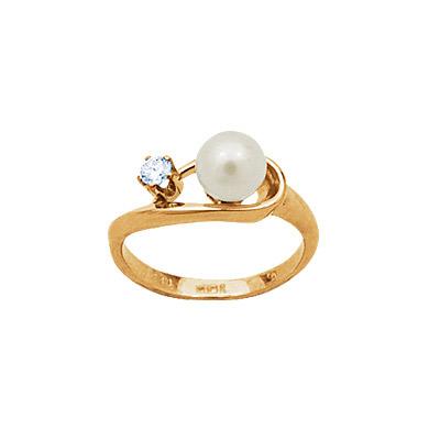 Золотое кольцо Ювелирное изделие 90745RS кольцо алмаз холдинг женское золотое кольцо с бриллиантами и рубином alm13237661 19
