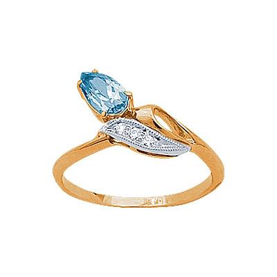 Золотое кольцо Ювелирное изделие 90748RS кольцо алмаз холдинг женское золотое кольцо с бриллиантами и рубином alm13237661 19