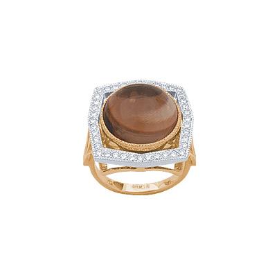 Золотое кольцо Ювелирное изделие 90755RS кольцо алмаз холдинг женское золотое кольцо с бриллиантами и рубином alm13237661 19