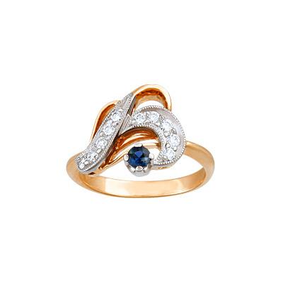 Золотое кольцо Ювелирное изделие 90919RS кольцо алмаз холдинг женское золотое кольцо с бриллиантами и рубином alm13237661 19