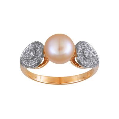 Золотое кольцо Ювелирное изделие 90980RS кольцо алмаз холдинг женское золотое кольцо с бриллиантами и рубином alm13237661 19