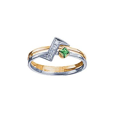 Золотое кольцо Ювелирное изделие 95137RS кольцо алмаз холдинг женское золотое кольцо с бриллиантами и рубином alm13237661 19