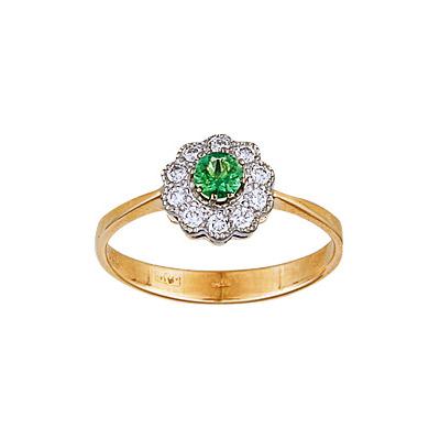 Золотое кольцо Ювелирное изделие 95192RS кольцо алмаз холдинг женское золотое кольцо с бриллиантами и рубином alm13237661 19