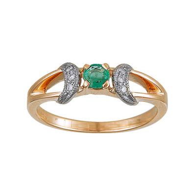 Золотое кольцо Ювелирное изделие 95215RS кольцо алмаз холдинг женское золотое кольцо с бриллиантами и рубином alm13237661 19