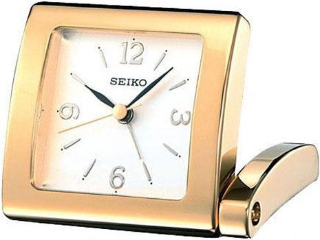 Seiko Настольные часы Seiko QHE025GN. Коллекция Интерьерные часы seiko настольные часы seiko qxq008bn коллекция настольные часы