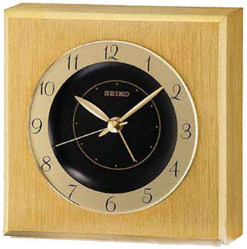 цена Seiko Настольные часы Seiko QHE053GN. Коллекция Интерьерные часы онлайн в 2017 году