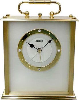 Seiko Настольные часы Seiko QHE065GN. Коллекция Интерьерные часы seiko будильник seiko qhl057wn коллекция интерьерные часы