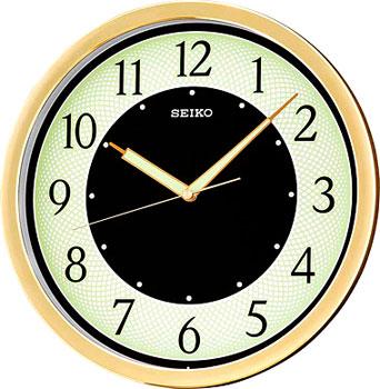 Seiko Настенные часы Seiko QXA472G. Коллекция Интерьерные часы часы настенные mauricio relli oro selvaggia цвет черный белый золотистый рм 013