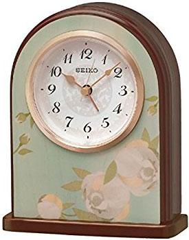 Seiko Настольные часы  Seiko QXE055LN. Коллекция Настольные часы seiko настольные часы seiko qxe054bn коллекция настольные часы