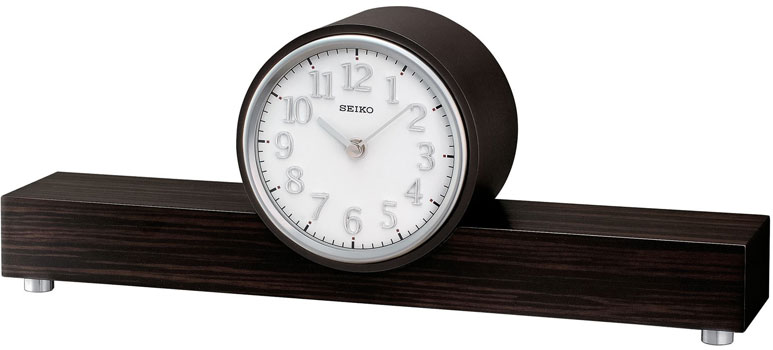 Seiko Настольные часы Seiko QXJ018BN. Коллекция Интерьерные часы seiko будильник seiko qhl057wn коллекция интерьерные часы