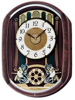 Seiko Настенные часы  Seiko QXM297BT. Коллекция Интерьерные часы seiko часы seiko sxb430p1 коллекция premier