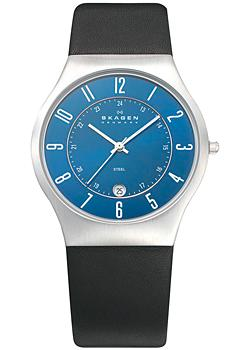Skagen Часы Skagen 233XXLSLN. Коллекция Leather skagen skw2189