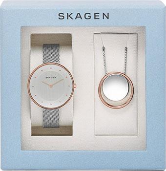 Skagen Часы Skagen SKW1078. Коллекция Mesh skagen швейцарские наручные женские часы skagen 358xsrm коллекция mesh