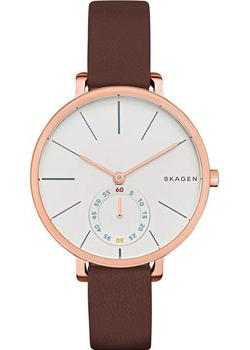 Skagen Часы Skagen SKW2356. Коллекция Leather часы nixon time teller deluxe leather navy sunray brow