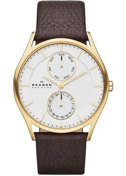 Skagen Часы Skagen SKW6066. Коллекция Leather часы nixon genesis leather white saddle