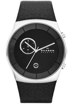 Skagen Часы Skagen SKW6070. Коллекция Leather skagen часы skagen skw6143 коллекция leather