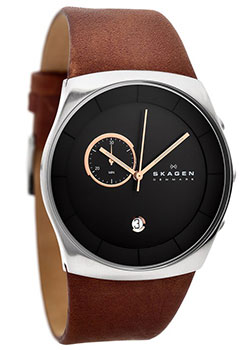 Skagen Часы Skagen SKW6085. Коллекция Leather часы nixon genesis leather white saddle