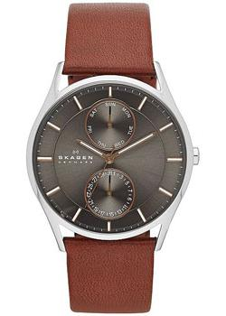Skagen Часы Skagen SKW6086. Коллекция Leather skagen часы skagen skw6143 коллекция leather