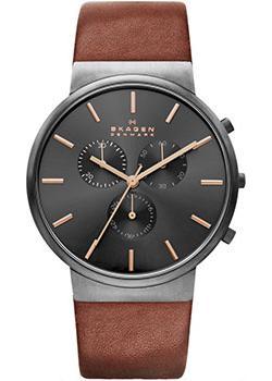 Skagen Часы Skagen SKW6106. Коллекция Leather цена