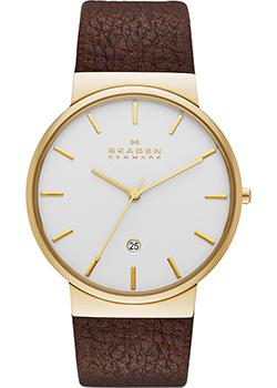 Skagen Часы Skagen SKW6142. Коллекция Leather skagen часы skagen skw2262 коллекция leather