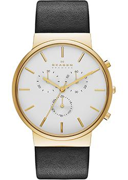 Skagen Часы Skagen SKW6143. Коллекция Leather skagen часы skagen skw2275 коллекция leather