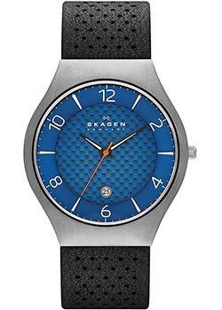 Skagen Часы Skagen SKW6148. Коллекция Leather skagen часы skagen skw2262 коллекция leather