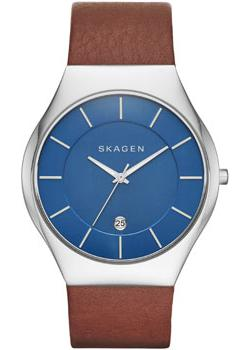 Skagen Часы Skagen SKW6160. Коллекция Leather skagen часы skagen skw6143 коллекция leather