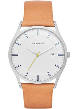 Skagen Часы Skagen SKW6282. Коллекция Leather skagen часы skagen skw2262 коллекция leather