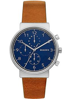 Skagen Часы Skagen SKW6358. Коллекция Leather skagen часы skagen skw6143 коллекция leather