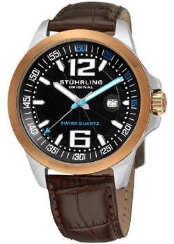 Stuhrling Original Часы Stuhrling Original 219C.331K41. Коллекция Aviator часы с увеличительным окном под календарь