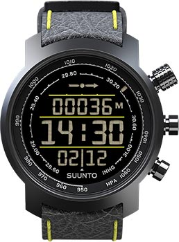 Suunto Умные часы Suunto ELEMENTUM TERRA n/ black/yellow leather цена и фото