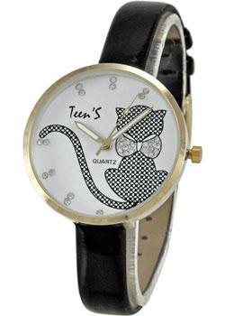 Tik-Tak Часы Tik-Tak H717-chernye-belyj-cif. Коллекция Teens цена и фото